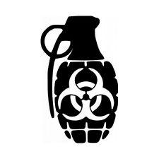 Biohazard Decal Vinyl Sticker Car Window Wall Logo Bumper Grenade JDM