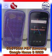 Pellicola+Custodia GRID VIOLA per Samsung NEXUS S I9020 (B4)