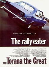1970 71 HOLDEN TORANA LC GTR XU1 PLUMDINGER A5 DISPLAY CARD BROCHURE BIANTE 1:18