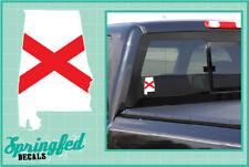 ALABAMA Shaped State Flag Vinyl Decal Car Truck Window Sticker CUSTOM SIZES