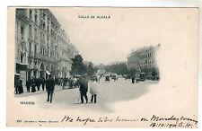 Calle De Alcala - Madrid Photo Postcard 1901