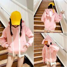 Damen Mädchen Locker Pullover Sweatshirt Kapuzenpullover Top Japanisch Häschen