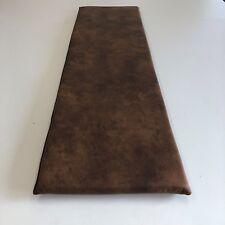 Bankauflage 80-200cm Sitzkissen Rutschstopp Antirutsch Lederlook vintage braun