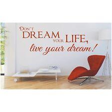 Spruch WANDTATTOO Don´t Dream your life live Wandsticker Wandaufkleber Sticker 6