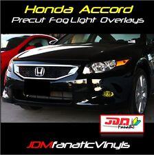 08-12 Accord Yellow Fog Light Overlays TINT JDM film vinyl Sedan or Coupe PRECUT
