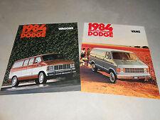 2 for 1: 1984 DODGE RAM VAN & WAGON HUGE PRESTIGE BROCHURE, SALES CATALOGS