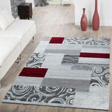 Teppich Günstig Patchwork Design Modern Wohnzimmerteppich In Grau Rot Weiß