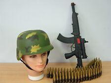 Camouflage Army Military Soldier Hat Helmet Bullet Belt n Costume Accessories AH