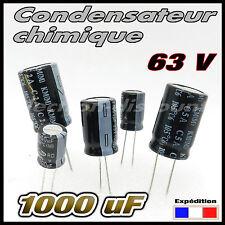 63/1000# 1 à 10 pcs Condensateur chimique 1000µF 63v  105°  - capacitor 1000uf