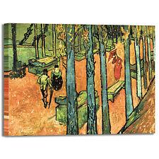 Van Gogh les alyscamps design quadro stampa tela dipinto telaio arredo casa
