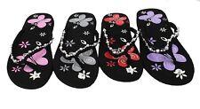 Women's Decorative Butterlfly Print Flip Flops Summer Beach Sandals FlatsThongs
