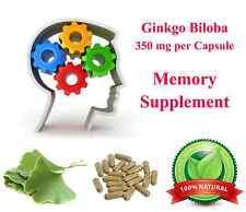 Ginkgo Biloba Leaf Capsules Brain Memory Boost Supplement ADHD Wholesale Lots