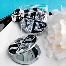 Mousseux strass motif love Miroir Compact ~ faveurs & cadeaux