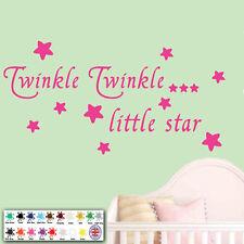 Baby Wall Sticker Quote - Twinkle Twinkle Stars Child, Nursery, Bedroom, Wallart
