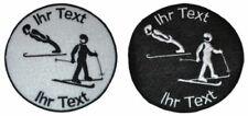 Ski Nordisch Kombination Aufnäher mit Wunschtext Patch 8cm (430-1)