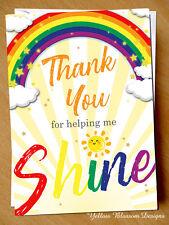 Teacher Thank You Card Mr Mrs Miss Shine Teaching Assistant Nursery Childminder