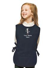 Personalized Kids Cobbler Apron Navy Blue Monogrammed for Boy & Girl Chefs