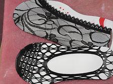 Netzfüßlinge, Gothic, schwarze Spitze, Gr.35-40(S-L),sexy, Sneaker-Socke netz
