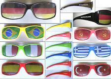 Fan Brille Deutschland Brasilien Italien Spanien Türkei Russland Griechenland