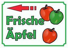 Verkaufsschild Äpfel links. Obst, Winterapfel, Hofladen, Frisch,  zu verkaufen