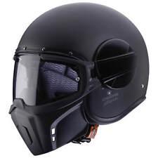 Caberg GHOST Solid Motorrad Jethelm Verbundfaser - matt schwarz