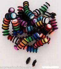 1 PIECE Acrylic Black   2g Look Magnetic No Piercing Fake CZ Cheater Ear Plug r