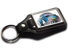 SAAB 900 TURBO Classic Sports Car Koolart Leather and Chrome Keyring
