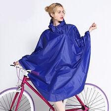 Women Hooded Raincoat Bike Rain Poncho Bicycle Rainwear Waterproof Rain Coat