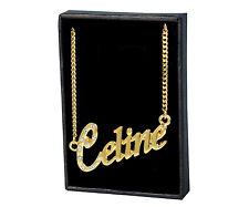 Collar de nombre Celine – 18 K oro plateado | Valentines Boda, Novia
