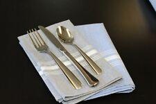 1 Dozen Milliken Signature Chambray Stripe Bistro Napkins- Black or Grey 18 x 22