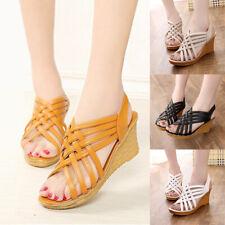 Women's Peep Toe High Platform Wedge Sandal Shoes Size New Summer Wear Pumps