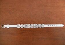 bracelet simili cuir blanc personnalisable