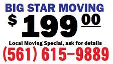 Boca Raton moving $199 moving (561)615-9858 West Pam Beach, Boynton, Jupiter