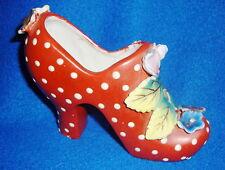 Vintage Made in Japan Ceramic Red Polka Dot Shoe