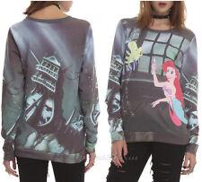 Disney Little Mermaid ARIEL/FLOUNDER Dinglehopper Fork Jumper Pullover Crewneck