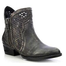 Circle G by Corral Ladies Black/Grey Cutout Shortie Boot Q0001