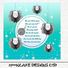 Baa Baa Black Sheep, Nursery Rhyme Fabric Cushion Upholstery Craft Panel