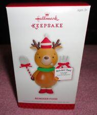 2013 HALLMARK KEEPSAKE CHRISTMAS TREE  ORNAMENT REINDEER FOOD NEW IN BOX