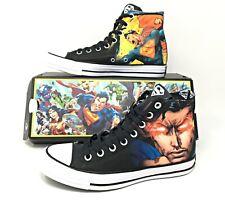 "Converse Chuck Taylor All Star DC ""Superman"" Black/White Shoes Sz (161389C)"