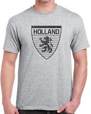 439 Holland mens T-shirt country dutch flag lion futbol rugby uniform europe new