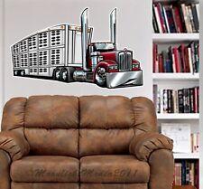 Kenworth Big Rig Livestock Truck WALL GRAPHIC DECAL #92015 MAN CAVE GARAGE MURAL
