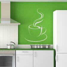 A vapore tazza di tè/caffè Adesivo Artistico Da Parete (AS10022)