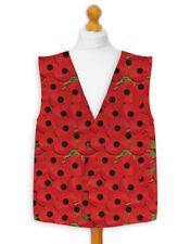 Novelty Waistcoat Fun Fancy Dress Informal Wacky Festival Stag Poppy Remembrance