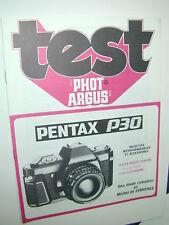 TEST PHOT ARGUS  PENTAX  P30  en francais photo photographie