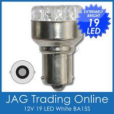12V 19-LED BA15S 1156 WHITE AUTOMOTIVE GLOBE - Reverse/Indicator Light Bulb