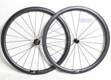 38mm Carbon Clincher Wheel Powerway Front Rear Rim 700C UD Matt Road Bike 25mm