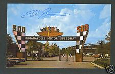 Ed Pimm signed Indy 500 postcard