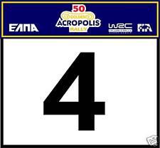 ACROPOLIS RALLY DOOR BADGE- RACE NUMBER GRAPHIC