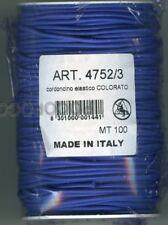 5 metri di GALLONE CORDONCINO TUBOLARE ELASTICO COLORATO ART. 4752/3
