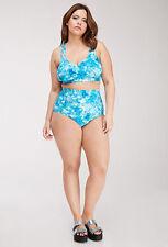 Forever 21 Plus Abstract Tie-Dye High Waisted Bikini Set 2Pcs  XL1X2X3X